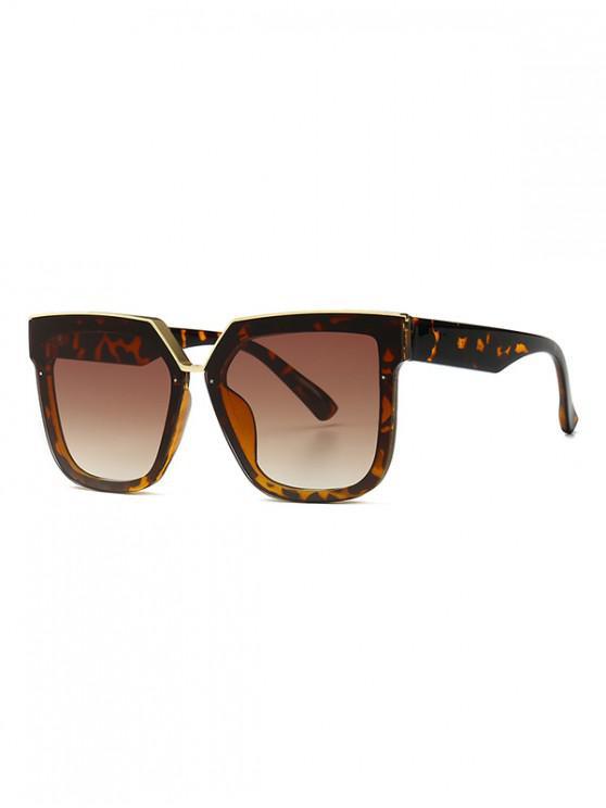 Gafas de sol de forma irregular de gran tamaño retro - Leopardo