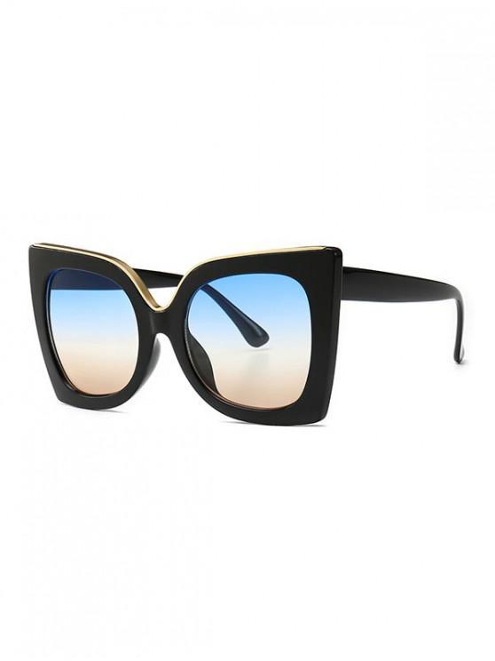 new Wide Rim Retro Oversize Sunglasses - SKY BLUE