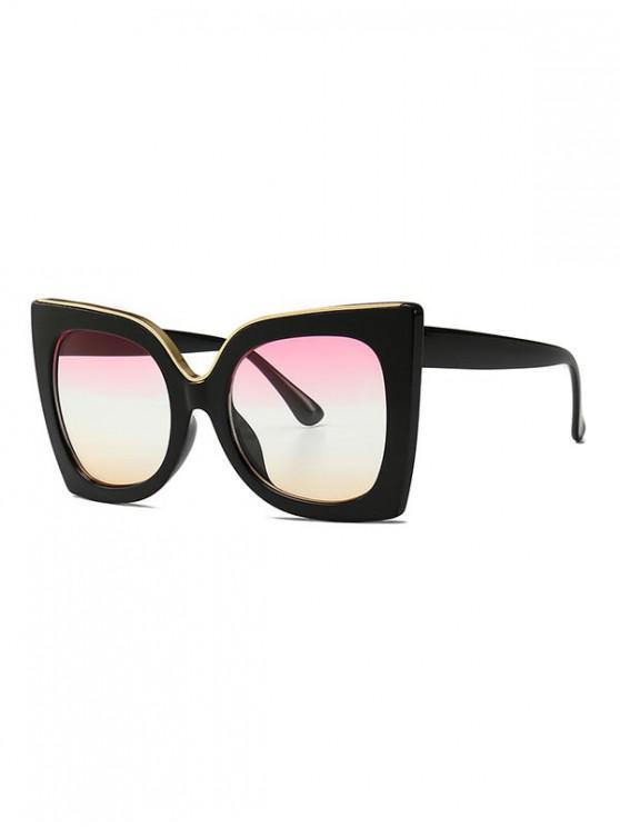 shops Wide Rim Retro Oversize Sunglasses - PINK