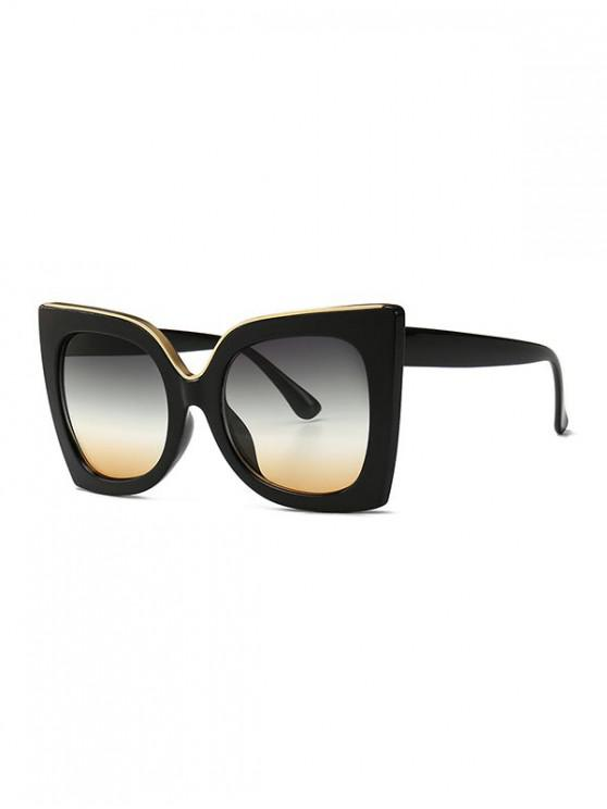 latest Wide Rim Retro Oversize Sunglasses - YELLOW