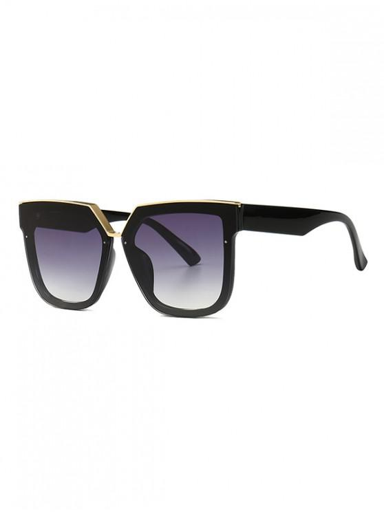 best Retro Oversized Irregular Shape Sunglasses - BLACK