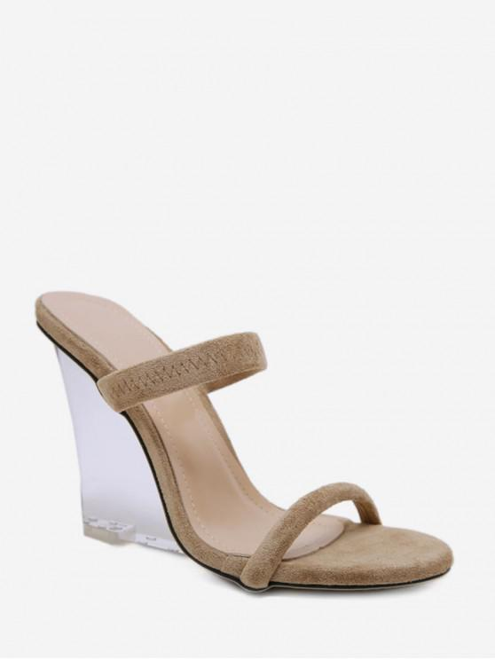 db635b1109 39% OFF] 2019 Transparent Wedge Heel Sandals In APRICOT | ZAFUL New ...