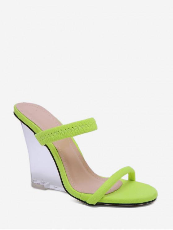 c932cc9b97 39% OFF] [NEW] 2019 Transparent Wedge Heel Sandals In GREEN | ZAFUL ...