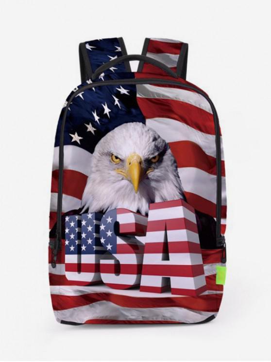 best American Flag Patriotic Travel Backpack - CHESTNUT RED