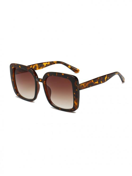 sale Oversized Anti UV Square Sunglasses - LEOPARD