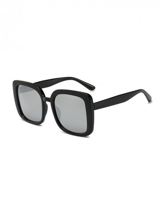 Gafas de sol cuadradas anti UV de gran tamaño - Plata