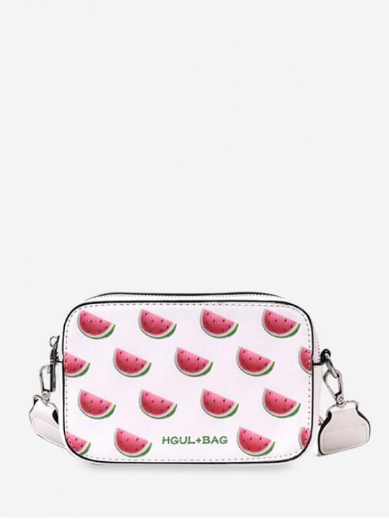 buy Zipper Fruit Pattern Mini Crossbody Bag - VALENTINE RED
