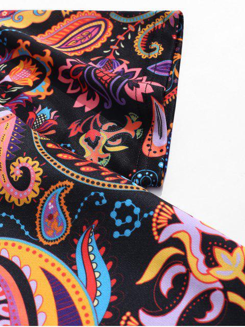 Camiseta de manga corta con estampado floral de paisley - Multicolor-A L Mobile