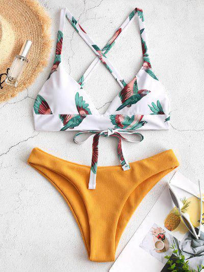 Bird Criss Cross Bikini Set