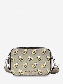 Bolso mini bandolera con diseño de frutas con cremallera