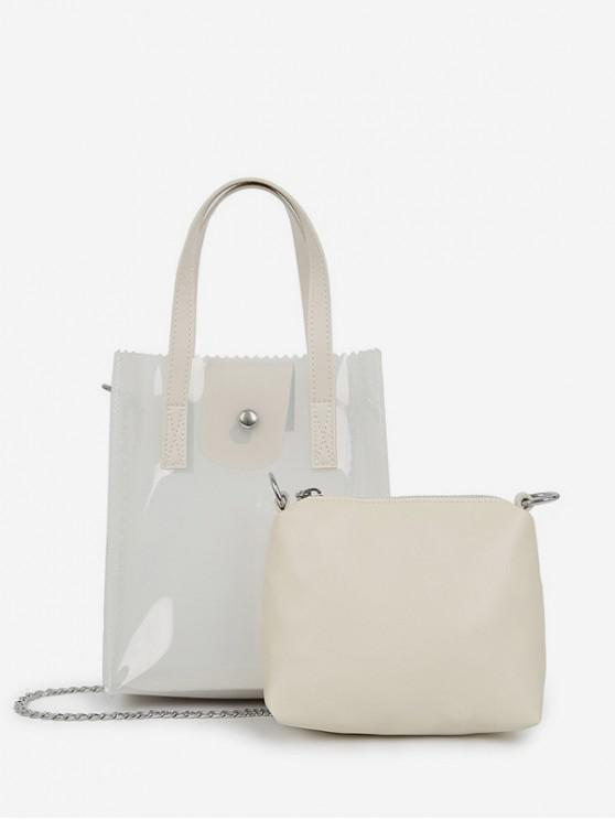 new Translucent PVC Mini Handbag - LIGHT GRAY