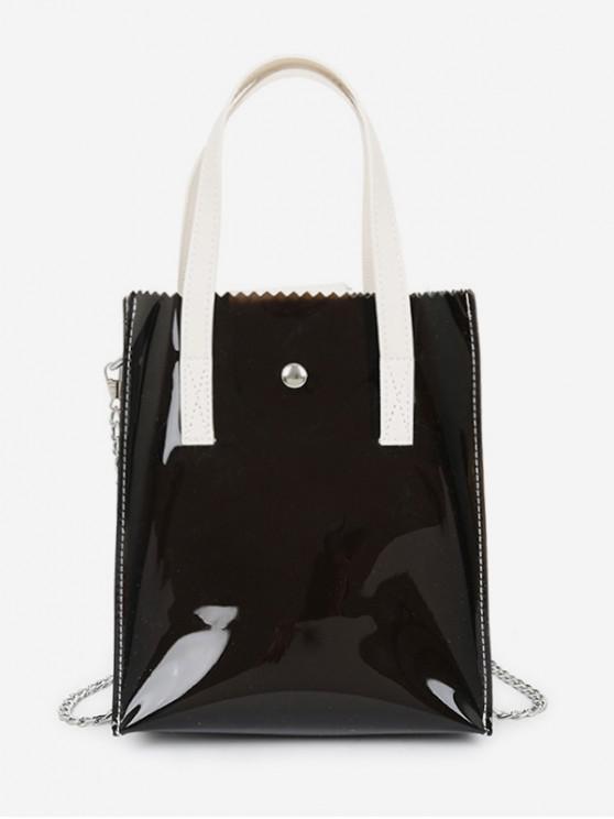 shops Translucent PVC Mini Handbag - BLACK