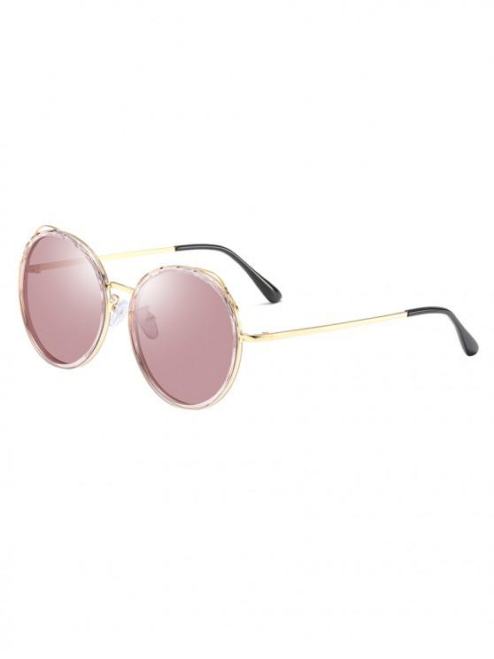 new Round Driving Polarized Sunglasses - LIGHT PINK