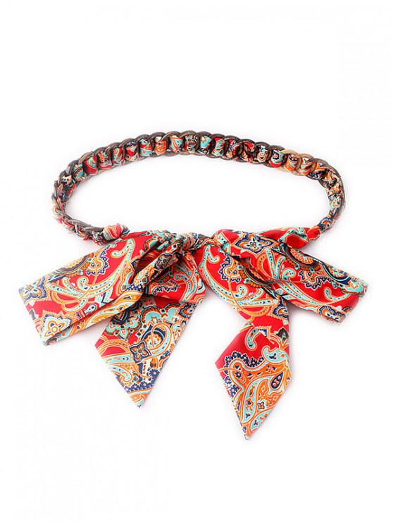 hot Ribbon Coconut Shell Waist Chain - RED