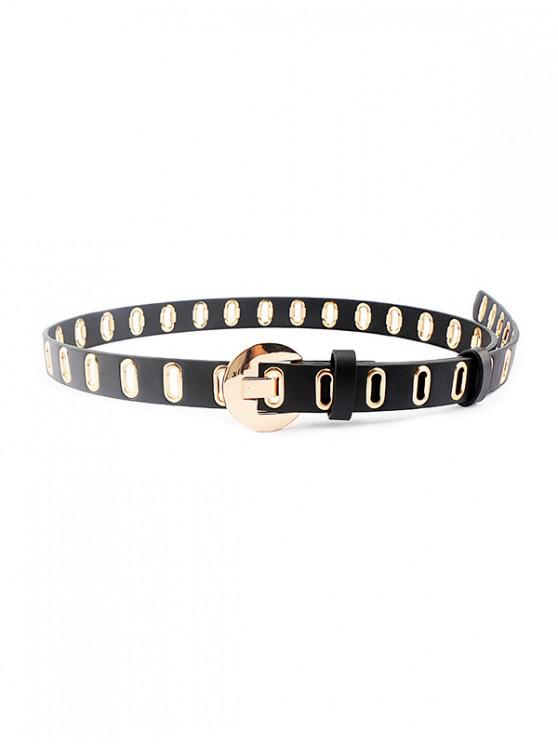new Punk Oval Holes Buckle Belt - GOLD
