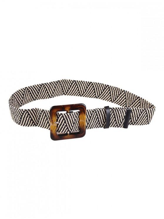 fashion Retro Buckle Design Knitted Belt - MULTI