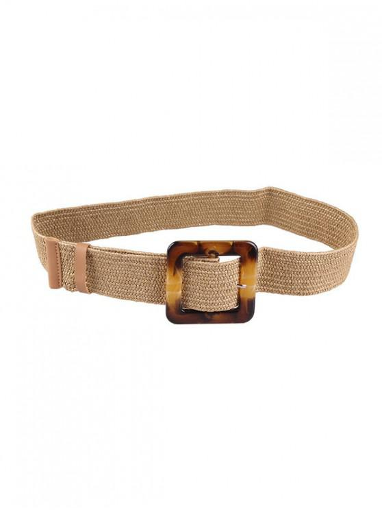 chic Retro Buckle Design Knitted Belt - TAN