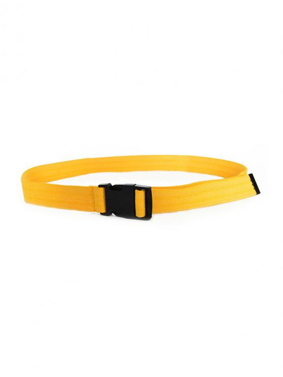 womens Solid Color Design Waist Belt - MUSTARD