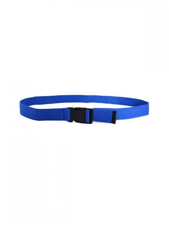 best Solid Color Design Waist Belt - BLUE