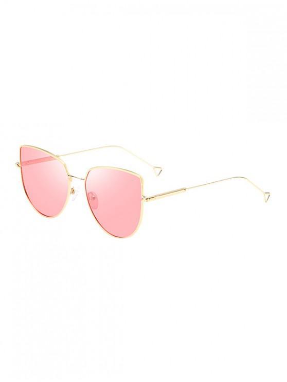 hot Catty Eye Metal Polarized Sunglasses - LIGHT PINK