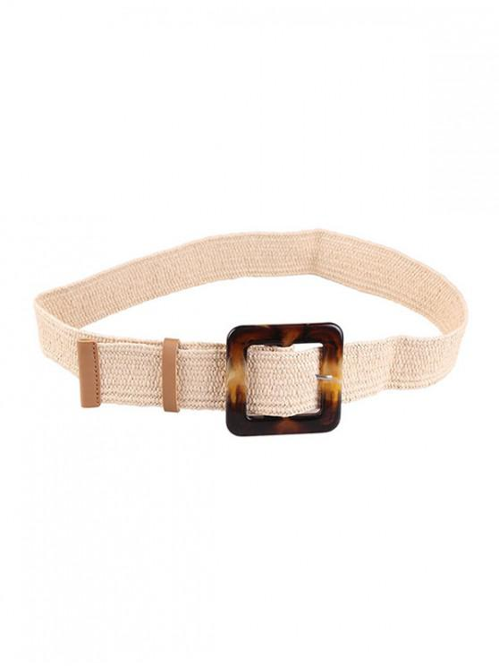 outfit Retro Buckle Design Knitted Belt - APRICOT
