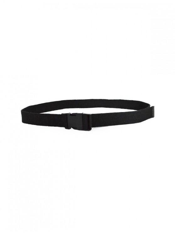 latest Solid Color Design Waist Belt - BLACK