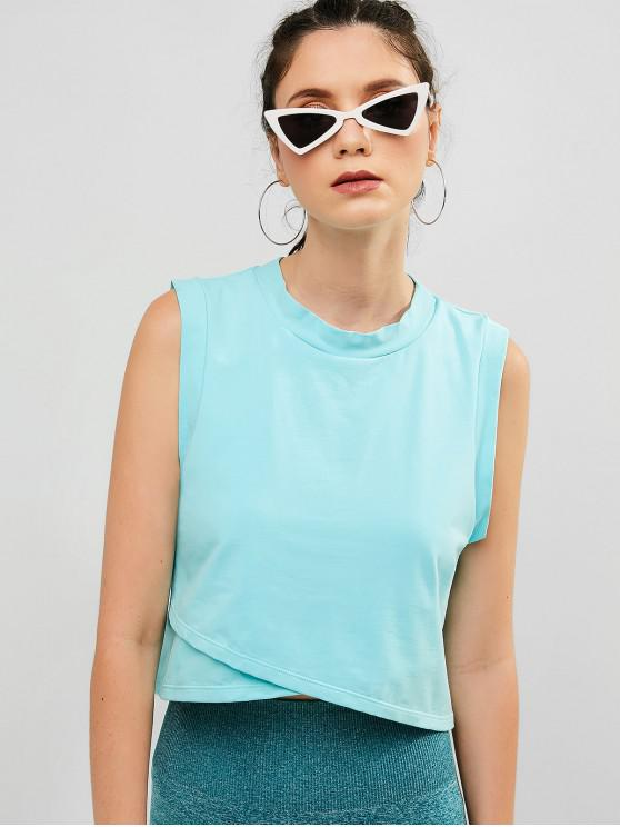 hot ZAFUL Drop Armhole Tulip Tank Top - LIGHT SKY BLUE M