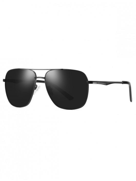 Gafas de sol polarizadas con montura de metal - Negro Azabache