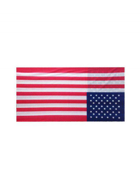 women American Flag Riding Circle Head Scarf - ROSSO RED  Mobile