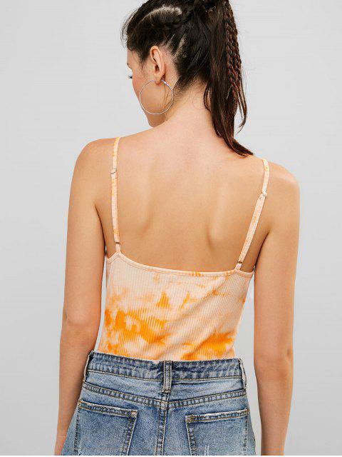 Body ZAFUL Tie Dye Cami hecho punto tanga - Naranja S Mobile