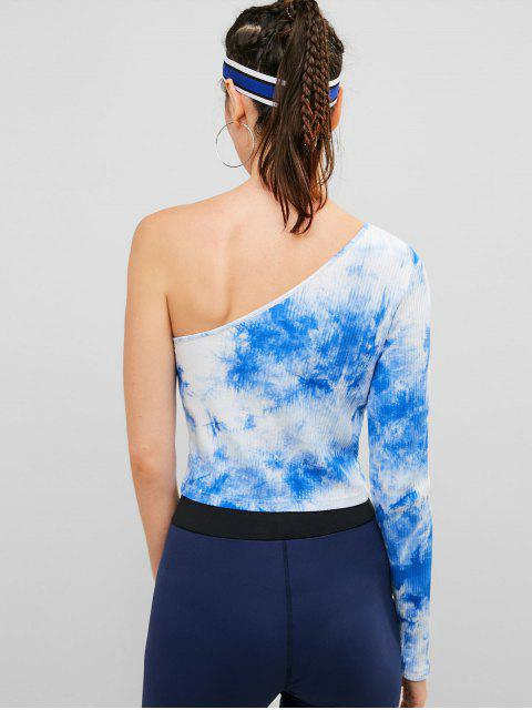 ZAFUL camiseta acanalada con efecto tie dye en el hombro - Azul de Koi L Mobile