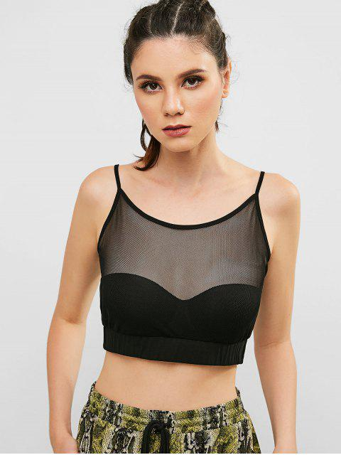 ZAFUL Mesh See Thru Crop Camisole - Negro S Mobile