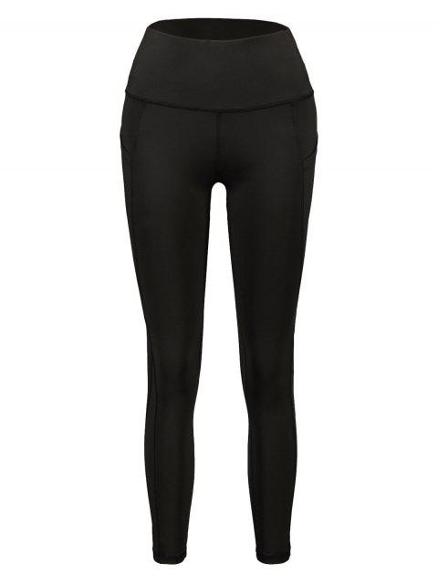 Leotardos ajustados de cintura alta con bolsillo oculto - Negro L Mobile