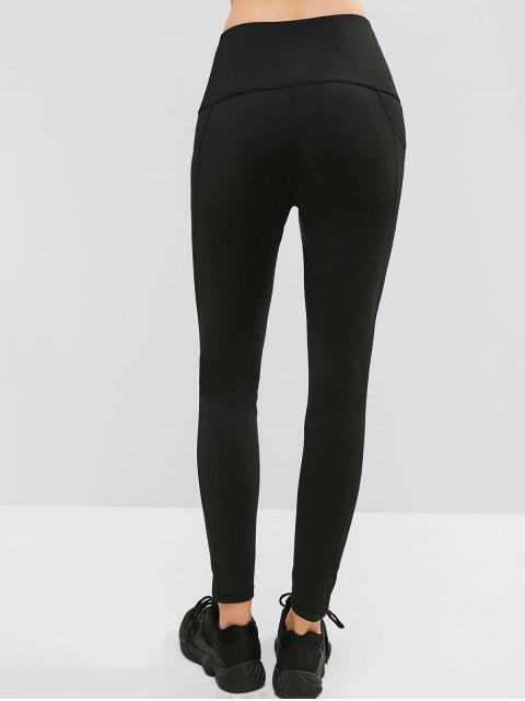Leotardos ajustados de cintura alta con bolsillo oculto - Negro XL Mobile