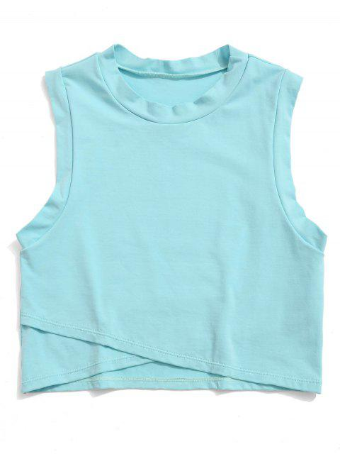 ZAFUL Drop Armhole Tulip Tank Top - Celeste Ligero L Mobile