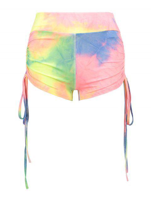 Pantalones cortos de entrenamiento ZAFUL Cinched Tie Dye - Multicolor S Mobile