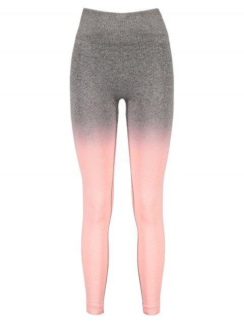 Leotardos de cintura ancha con tinte espacial de Ombre - Rosa Naranja S Mobile