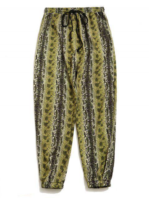 Pantalón basto deportivo con estampado de serpiente ZAFUL - Multicolor M Mobile