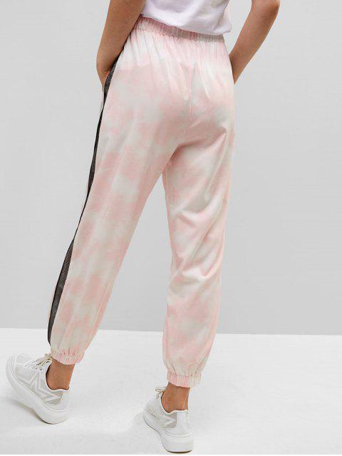 ZAFUL pantalones de bolsillo con efecto tie dye de malla - Cerdo Rosa M Mobile
