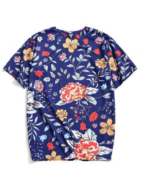 Flower Allover印花沙灘T卹 - 藏青 XL Mobile