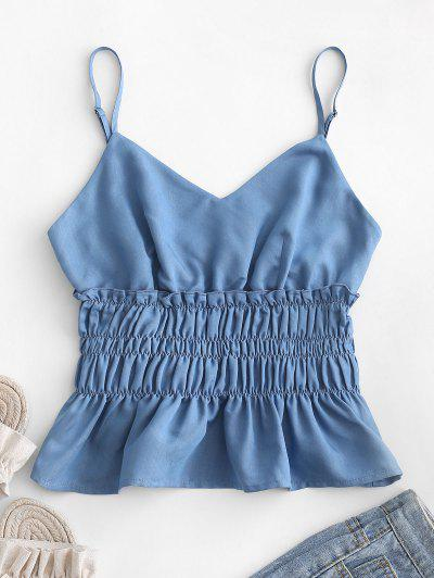 ZAFUL Flounce Smocked Frilled Cami Top