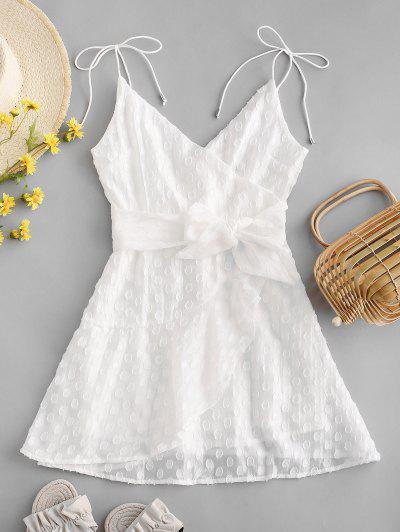 Zaful / Belted Ruffles Mini Cami Dress