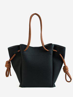 d0e16ab49a1ce سلسلة حقيبة جلدية الكتف الصلبة عارضة - أسود