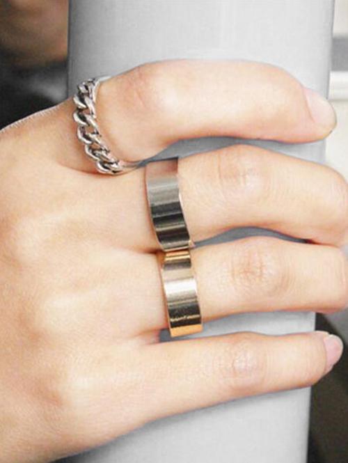 3Pcs Wide Open Ring Set