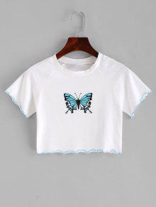 الخس تقليم الفراشة المحاصيل المحملة - أبيض S