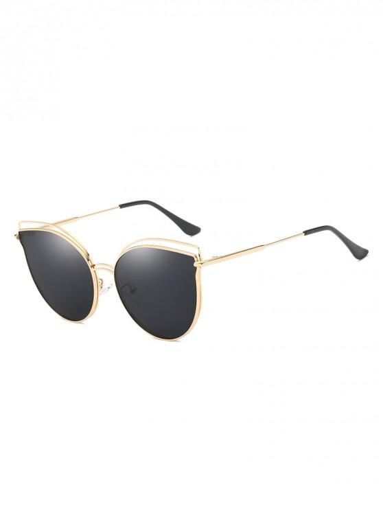 affordable Catty Eye Polarized Hollow Sunglasses - GOLD