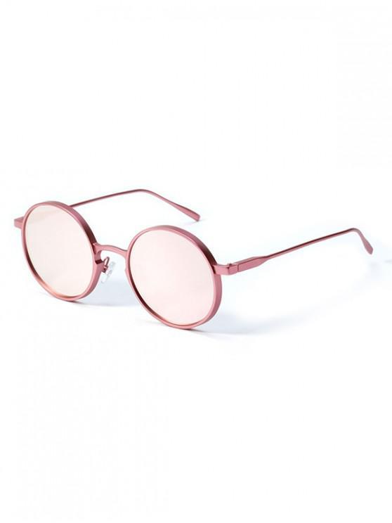 fancy Round Vintage Anti UV Sunglasses - ROSE
