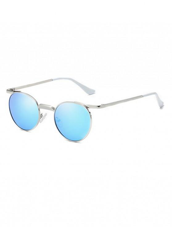 affordable Brief Round Polarized Sunglasses - CRYSTAL BLUE