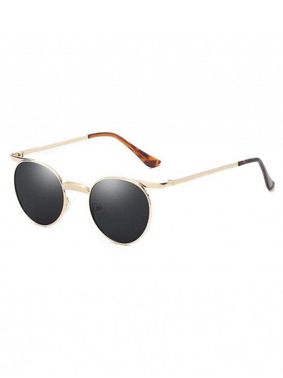 ladies Brief Round Polarized Sunglasses - GOLD