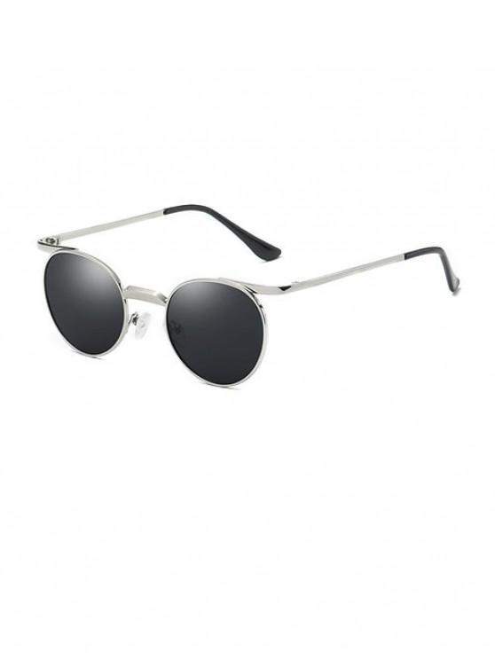 trendy Brief Round Polarized Sunglasses - SILVER